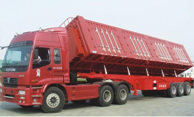 dump trailer (side tipper trailer)