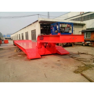 front loading low bed trailer